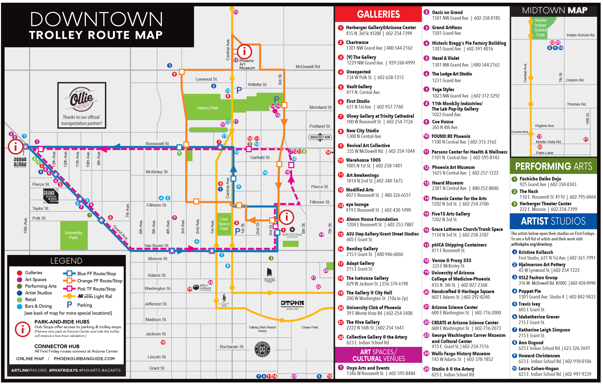 Phoenix First and Third Fridays map