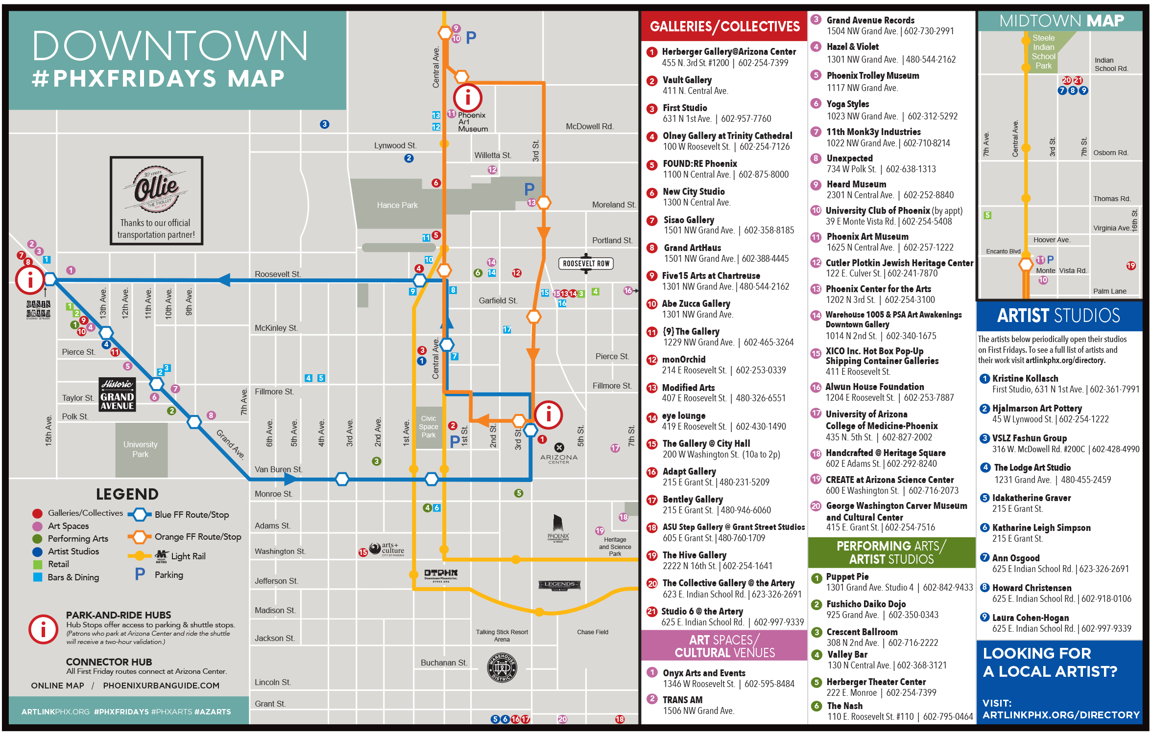 First Fridays map