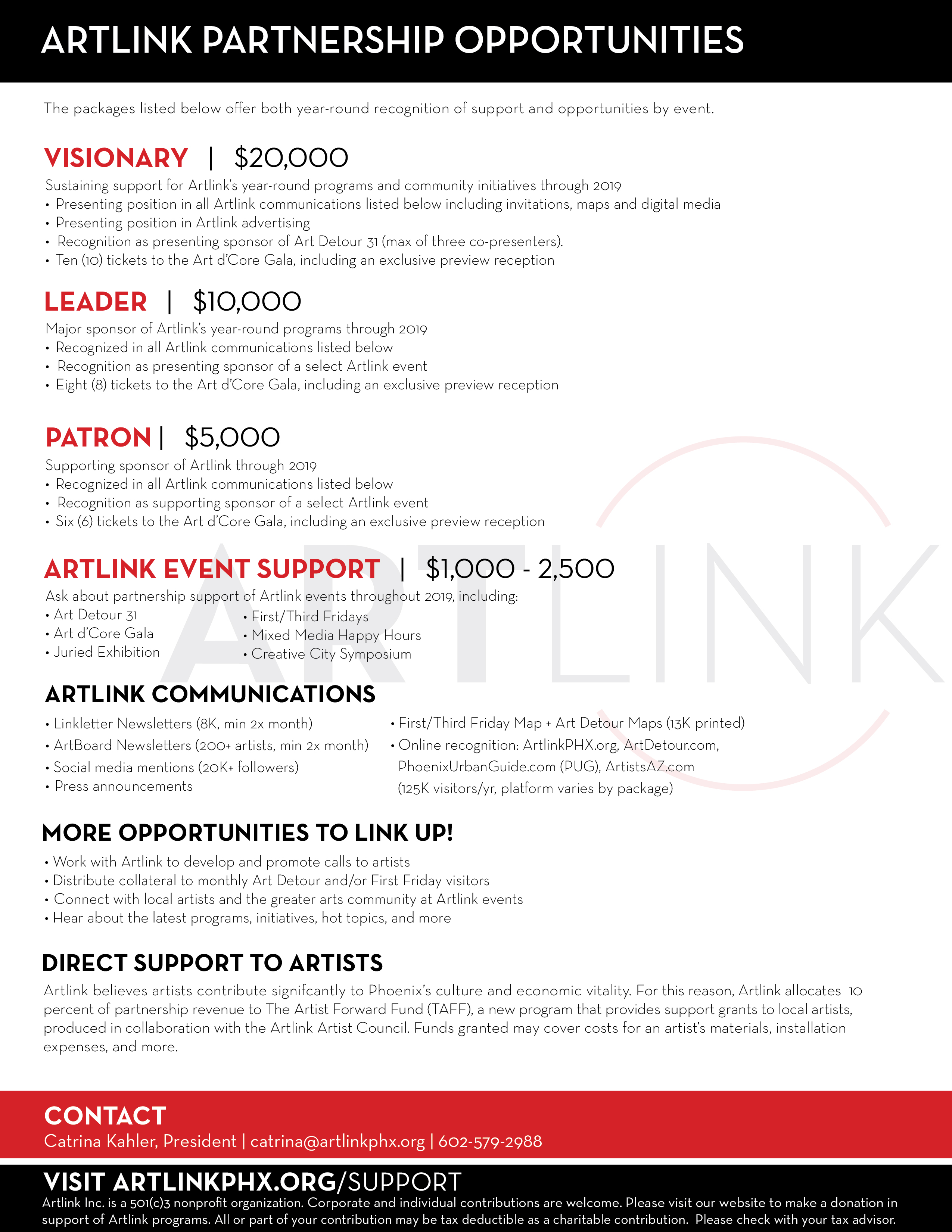 Support - Artlink Inc  | The Home For Phoenix First Fridays