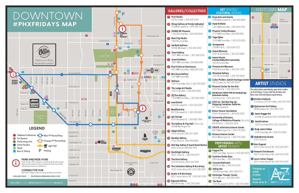 First Friday Las Vegas Map.First Fridays Artlink Inc The Home For Phoenix First Fridays